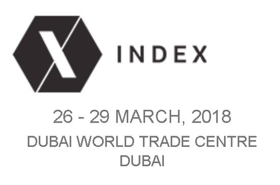 Exhibiting at fair INDEX - Dubai, 26 - 29 March 2018
