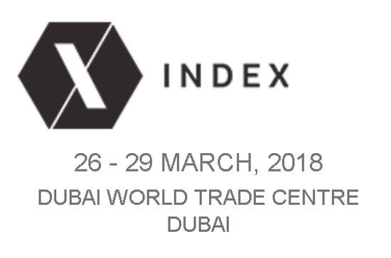 Exhibiting at fair INDEX - Dubai, 26 - 29 March 2018